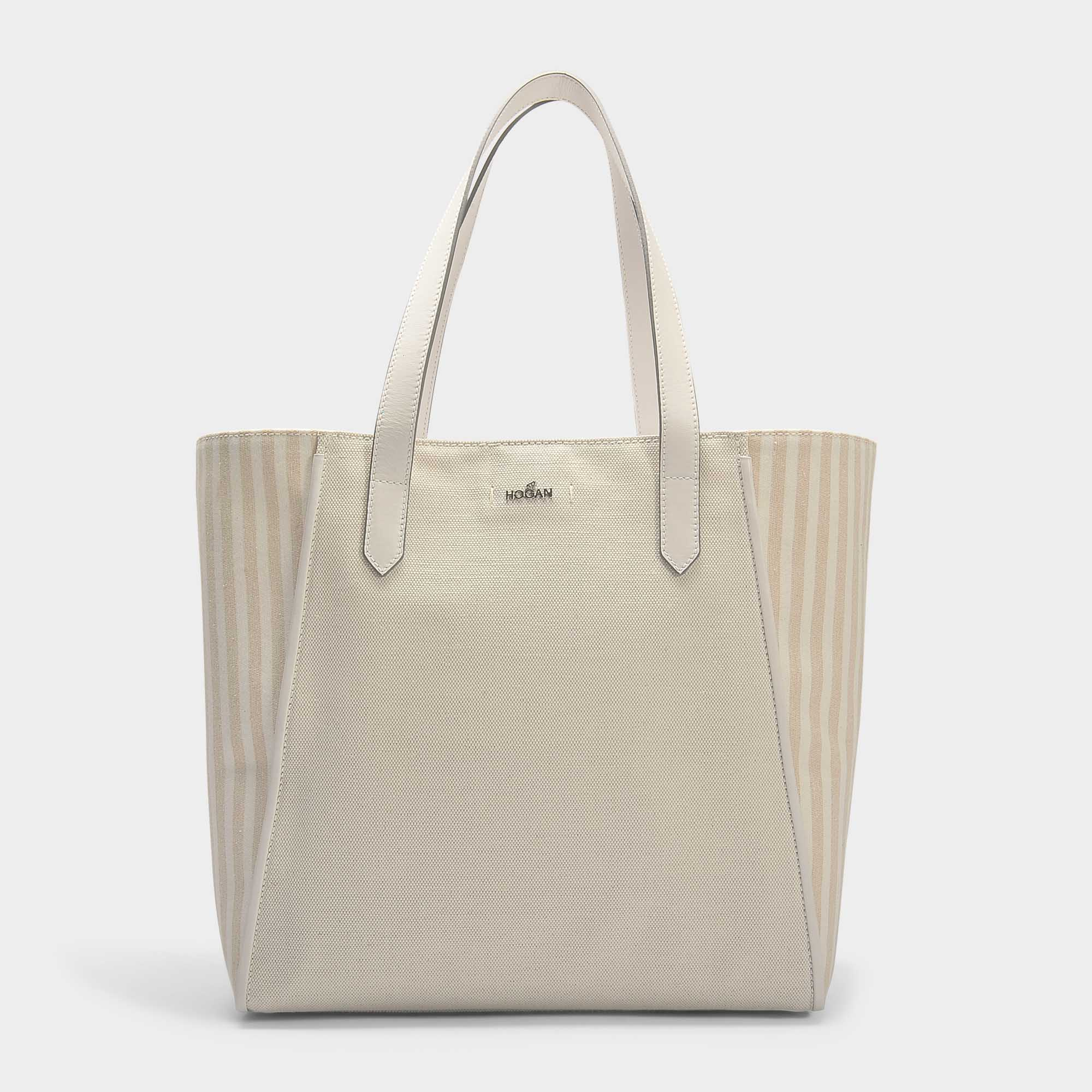 TOTE BAG IN WHITE LIGHT CANVAS