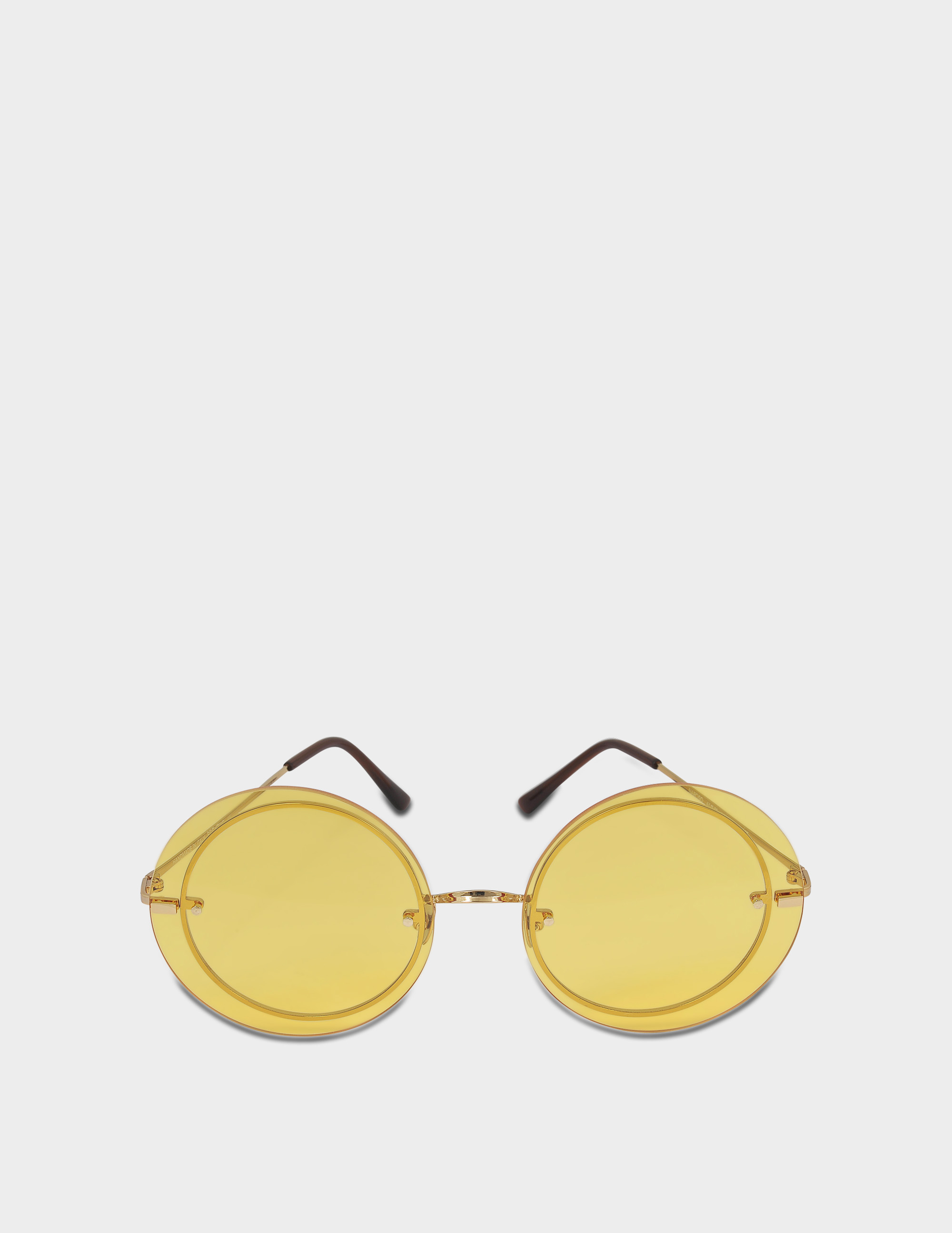SPEKTRE NARCISO SUNGLASSES IN GLOSSY GOLD AND YELLOW PASTEL STAINLESS STEEL