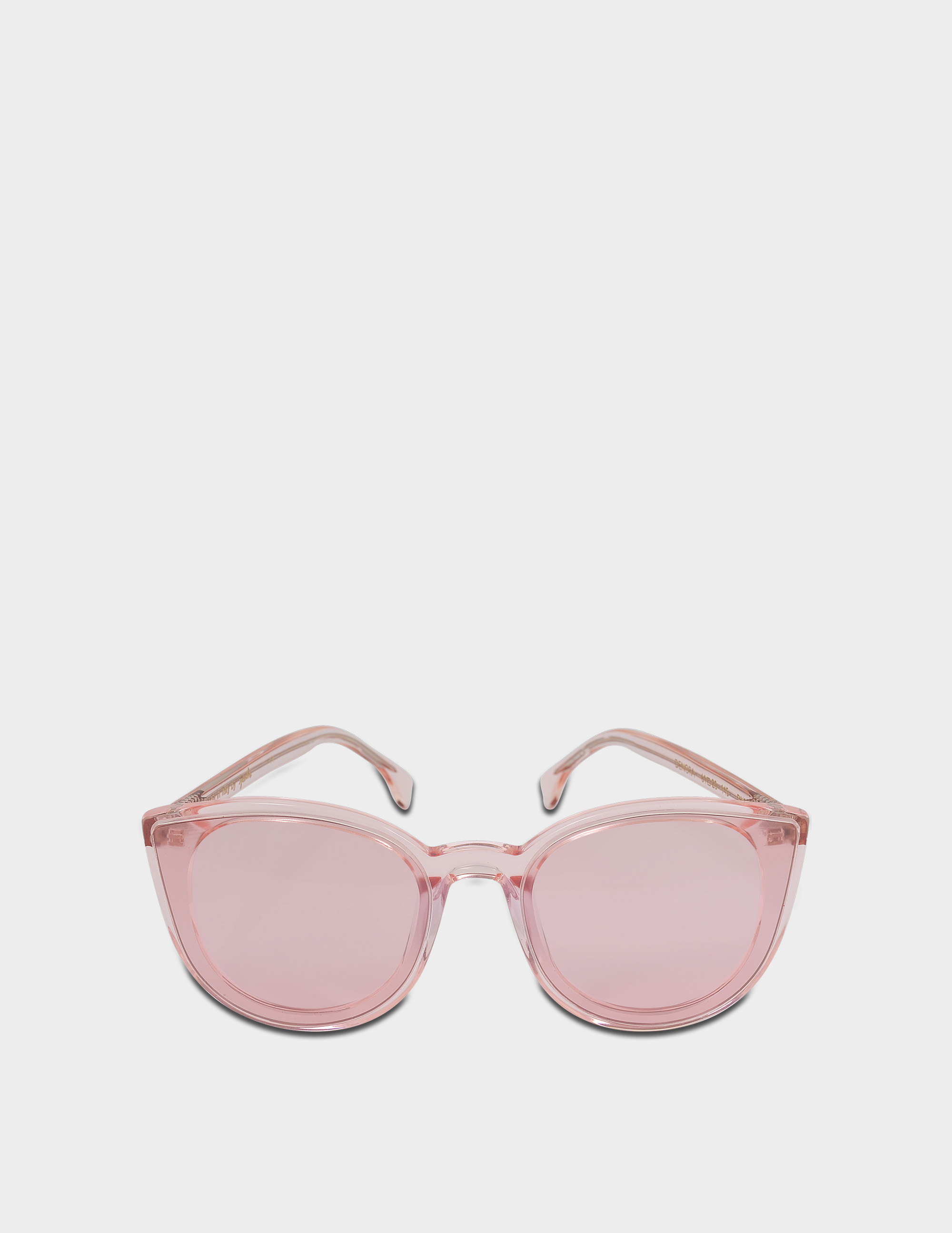 SPEKTRE DENORA SUNGLASSES IN CRYSTAL ROSE AND PINK PASTEL ULTRA THIN ACETATE