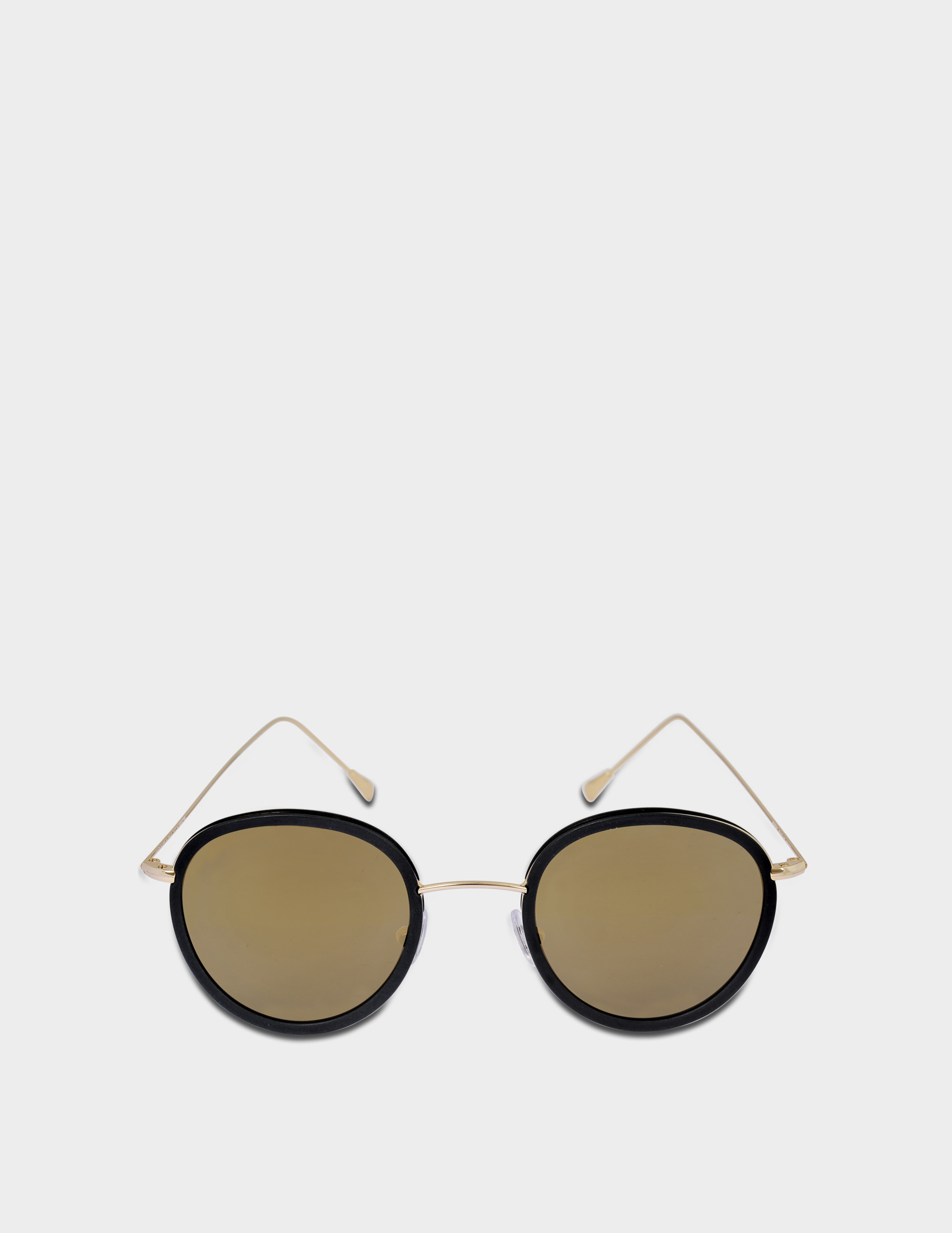 SPEKTRE MORGAN SUNGLASSES IN BLACK AND GOLD STAINLESS STEEL AND ACETATE