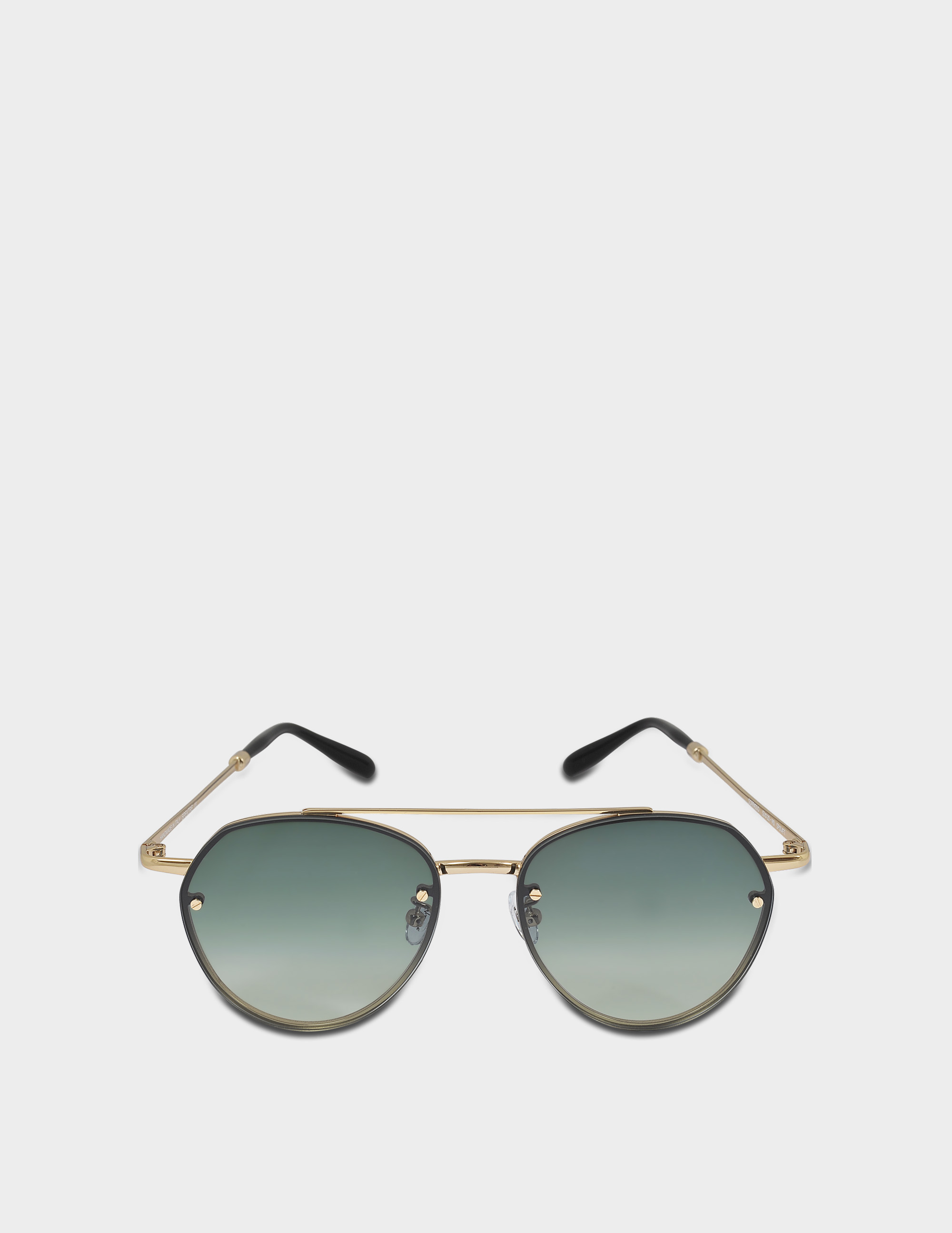 SPEKTRE SORPASSO SUNGLASSES IN GOLD GLOSSY AND GRADIENT GREEN STAINLESS STEEL