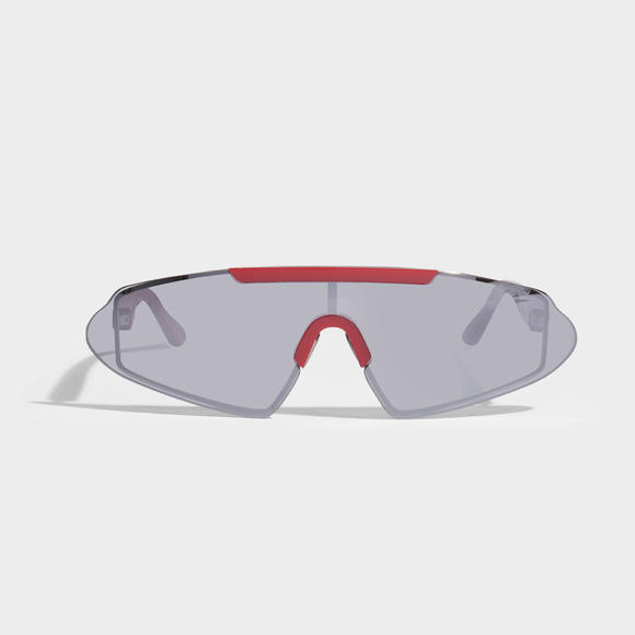 Bornt Sunglasses in Red and Silver Mirror Polyamide with Mirror Lenses