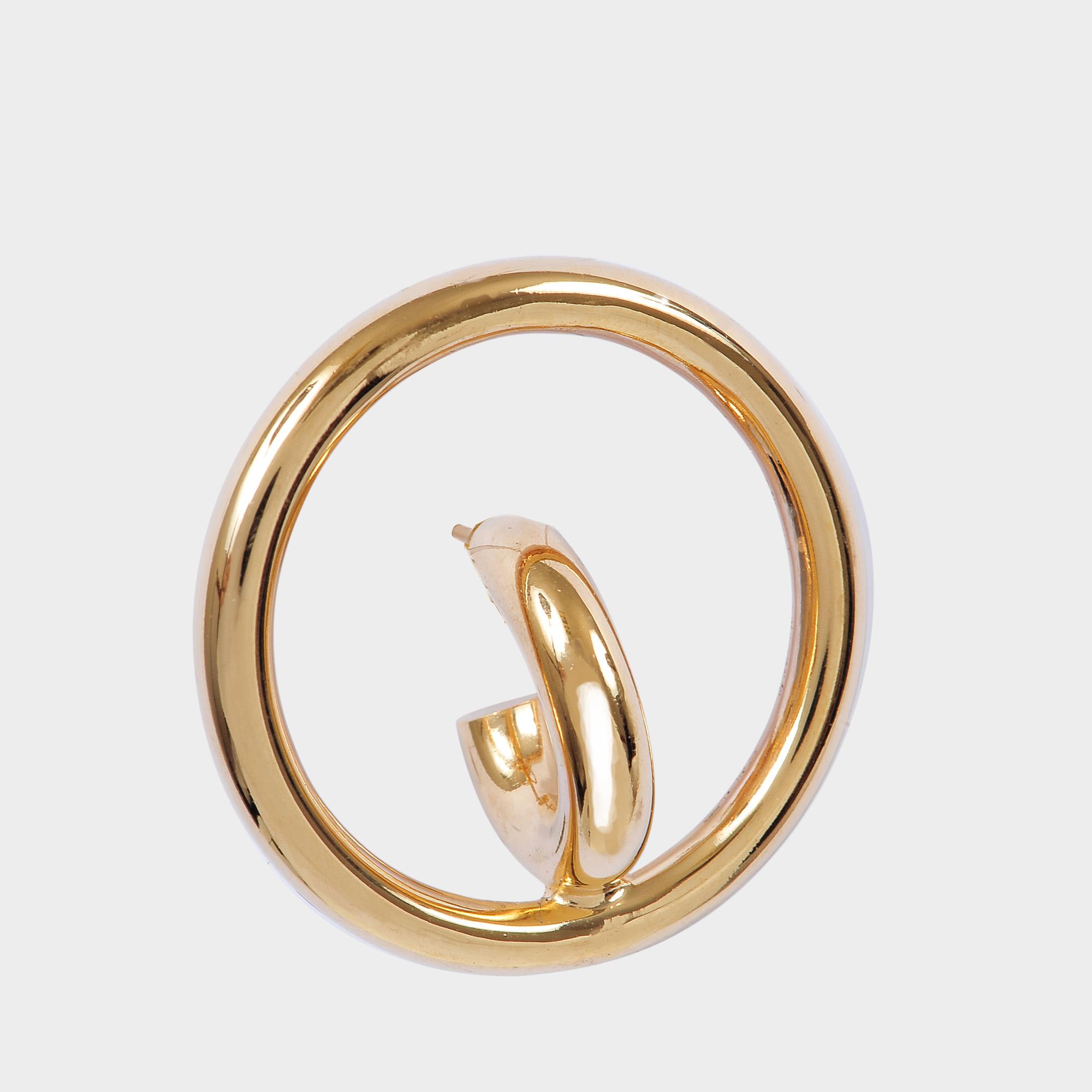 Charlotte Chesnais Saturn Blow Medium vermeil earrings