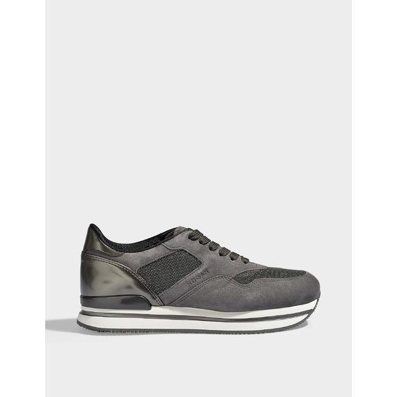 H222 麂皮亮饰休闲运动鞋
