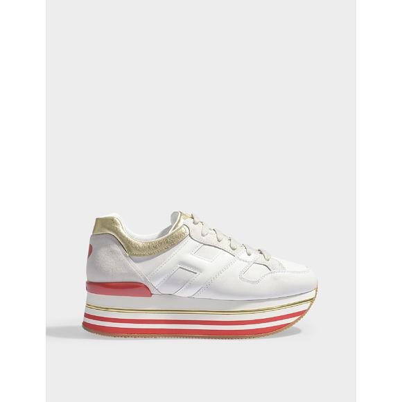 Maxi 心形装饰厚跟休闲运动鞋