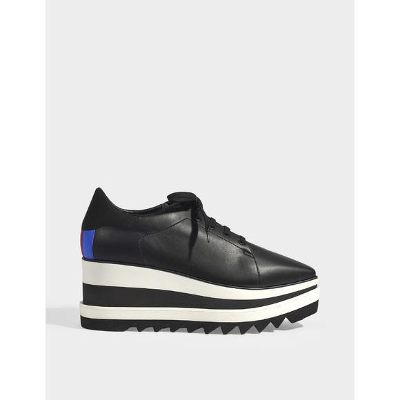 Sneakelyse Classic Platform 厚底黑色运动鞋