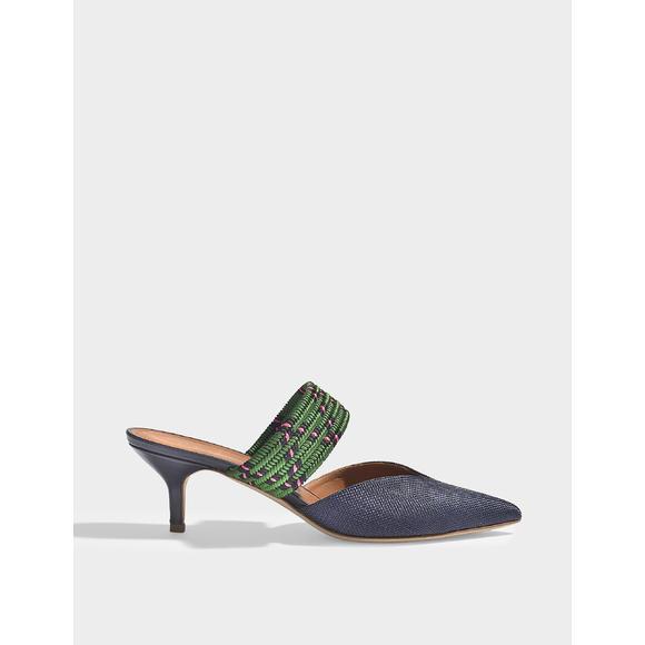 Maise 编织 尖头穆勒鞋