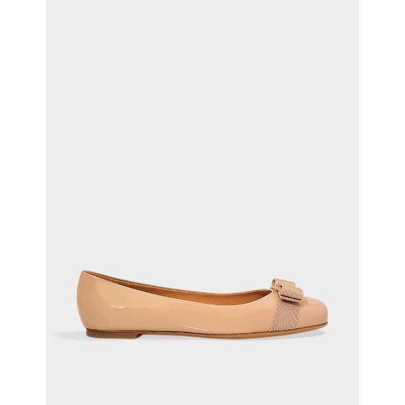 Varina 漆皮平底鞋